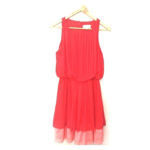 Jessica Simpson small red and pink dress. So fun!